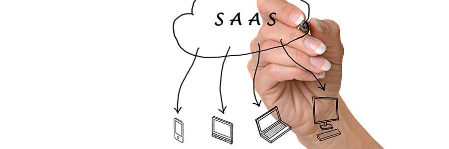 SAAS in the cloud diagram