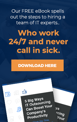 Our Free eBook spells out the steps to hiring a team of IT experts...Who work 24/7 and never call in sick.
