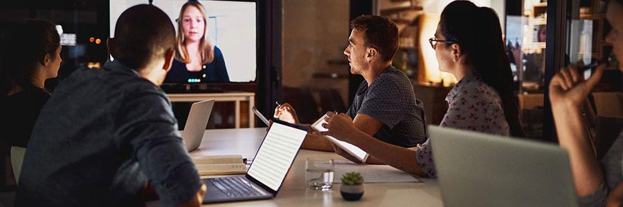 teem in a online meeting